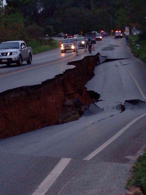 วันที่ 6 พ.ค. 2557เกิดแผ่นดินไหวขนาด 6.3 ริกเตอร์ จังหวัดเชียงราย